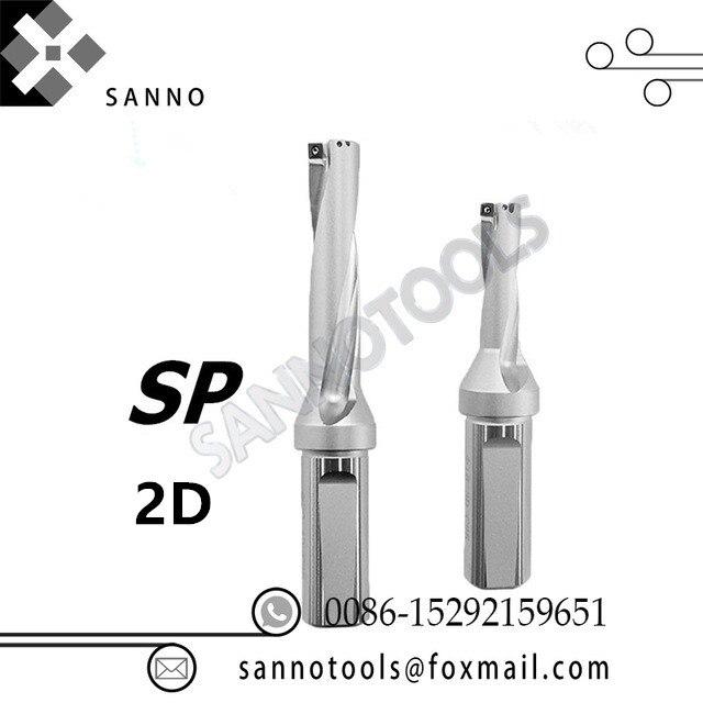 SP forets indexables outil Peu 2D 13-20mm 20.5-25mm 25.5-30mm 35.5- 40mm 40.5mm jet d'eau de forage plaquettes amovibles Type U forage