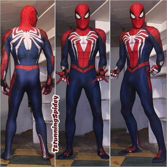 Косплей супергероя Человек-паук Марвел