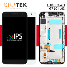 Srjtek lcd For Huawei Ascend G7 LCD Display Panel with Touch Screen Digitizer Full Assembly / Frame 5.5