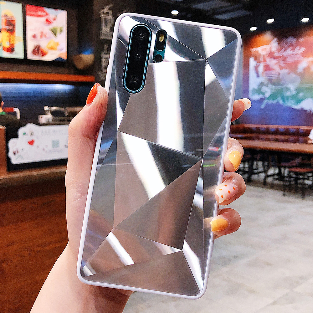 3D Diamond Case For Huawei P30 Pro P20 Lite Mate 30 Pro P Smart Z Honor 10 Lite Honor 8X Cases Holographic Prism Laser Cover(China)