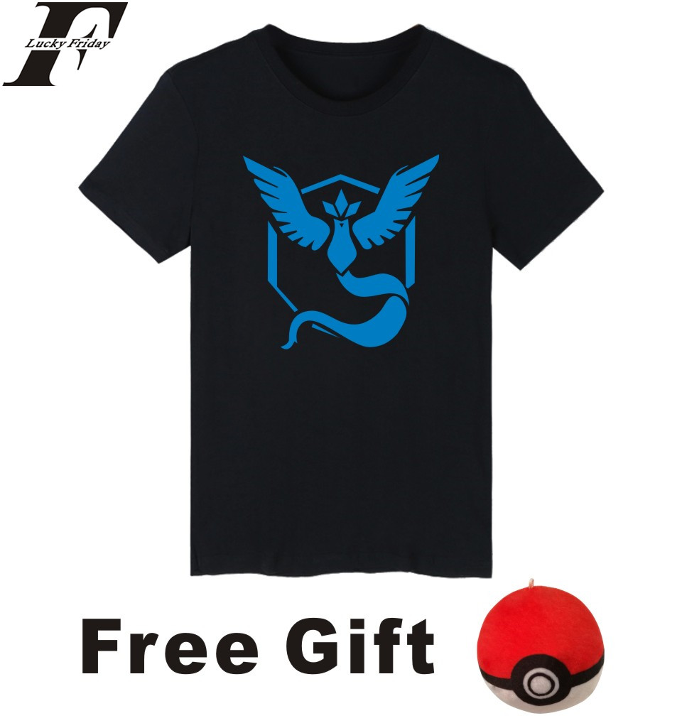 5ba2b978 LUCKYFRIDAYF women and men pokemon go T-shirt summer pokemon go t shirt  homme t