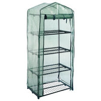 4 Tier Outdoor Garden Greenhouse Grow Cold Frame W Shelving Reinforced Cvers