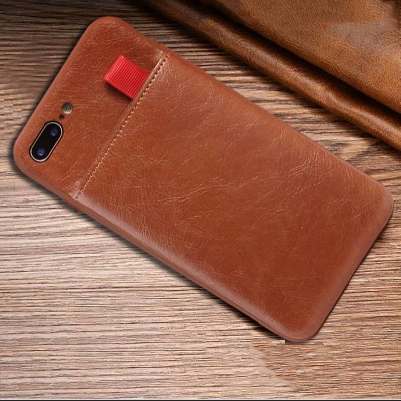 Accessories - Haissky Leather Wallet Phone Case For iPhone X 6 6s 7 8 Plus Case Luxury Pull Type Card Slots Back Cover For iPhone X 10 8 Plus