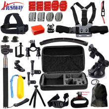 Husiway for Gopro Accessories set for go pro hero 5 4 3 kit mount for Gopro / xiaomi yi camera / eken h9 tripod 12M