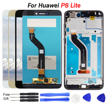 For Huawei P8 Lite 2017 LCD Display Touch Screen Digitizer Assembly with frame Replace LX1 LX2 LX3 Screen P8 Lite Display screen недорго, оригинальная цена