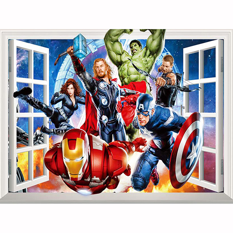 Full Drill Quadratische Diamant-Malerei Mosaik Super Hero The Avengers 45 x 60 cm