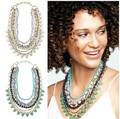 European fashion jewelry S-D-J  sutton white stone green stone Necklace party jewelry  -Free Shipping