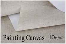 10m Linen Blend Primed Blank Canvas For artist Painting Layer Oil Painting Canvas free shipping
