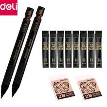 Ограниченное предложение Балык механический карандаш автоматического составление 2B черный карандаша пополнения Caneta офис школы письма поставок