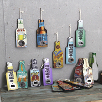 The Factory Custom Bar Restaurant Shop Hanging Mural Decoration Wooden Beer Cola Bottle Opener