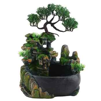 Resin Waterfall Desktop Fountain Zen Meditation Waterfall Home Decoration( Without Color Changing Led Lighting )