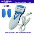 Blue USB smooth strong electric pedicure tool /  rechargeable waterproof Foot Care Tool +3pcs For scholls funcdion roller heads