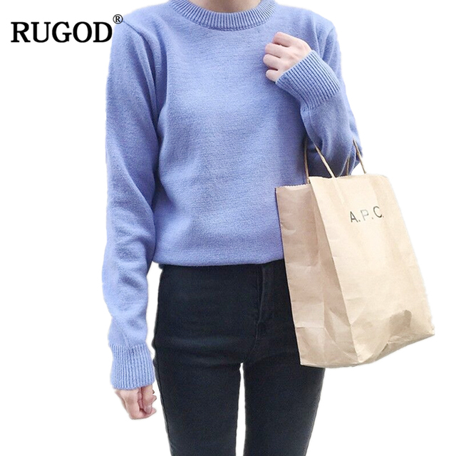 4ce95fe4606 Rugod Autumn Women Cashmere Sweaters Casual Slim Tops Blouse Sweater Outfit  Jumper Pullover 2018 Winter Sweaters
