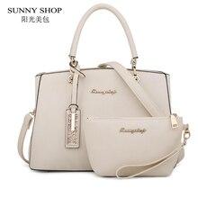 SUNNY SHOP Fashion Handbag For Women  2 Piece Bag Set Personalized Gifts For Women Designer Shoulder Bag Women Bag Set