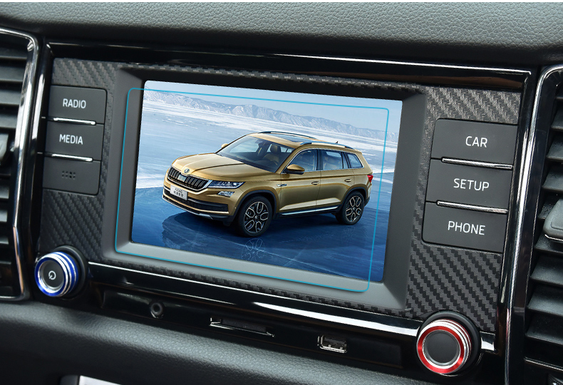 1pc for SKODA KODIAQ Navigation screen Tempered protect film in Interior Mouldings from Automobiles Motorcycles
