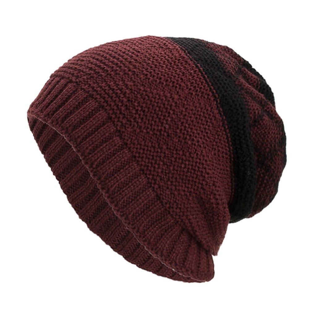 6965ebd9535 Cashmere Knit Beanie Men Warm Cap Women Baggy Weave Crochet Winter Wool  Knit Ski Skullies Beanie