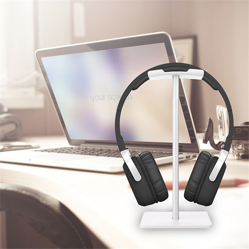 universal headphone acrylic headset earphone stand holder display for headphones bracket for ipad holder black rack hanger Alloy Headphone Stand Stable Headset Bracket Display Shelf Computer Gaming Holder Rack Non-slip Earphone Vertical Bracket Hanger