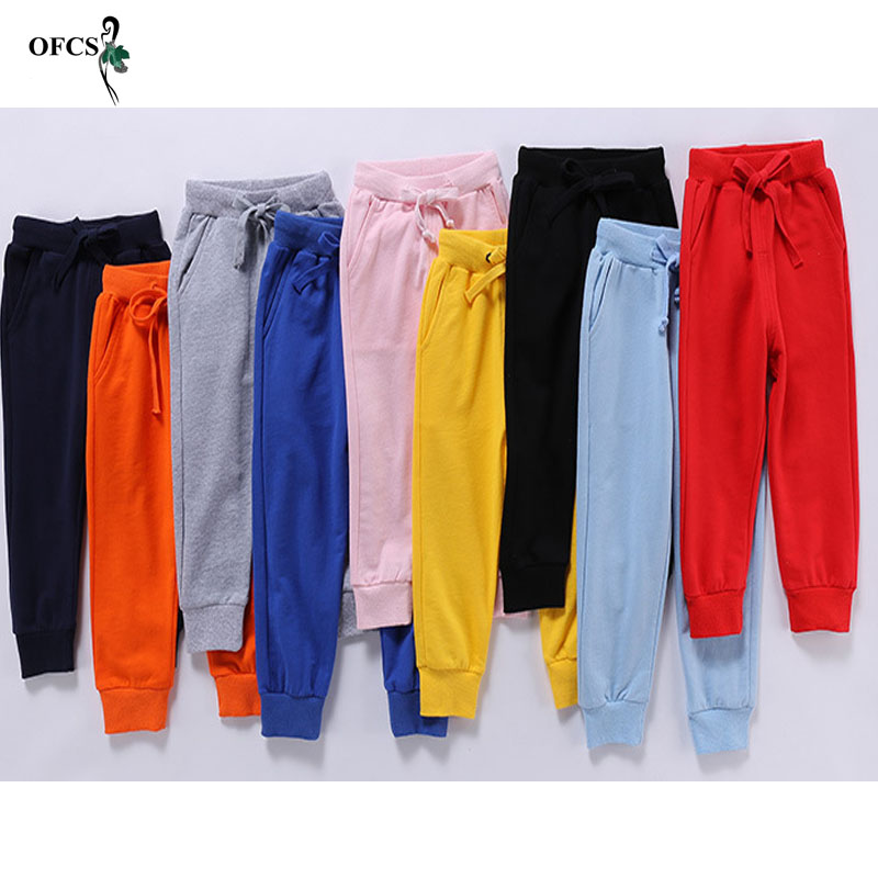 Image 4 - Retail New Warm Velvet Pants For 2 10 Yeas Solid Boys Girls Casual Sport Pants Jogging Enfant Garcon Kids Children Trousers-in Pants from Mother & Kids