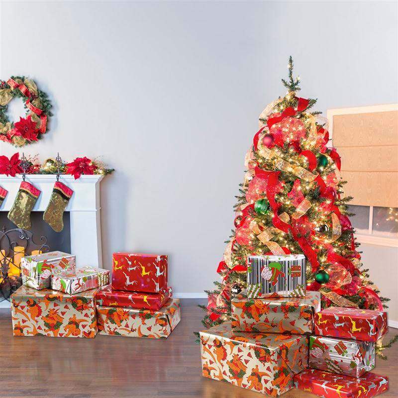 3 Rollen 70*400 CM Weihnachten DIY Geschenkpapier Geschenkpapier ...