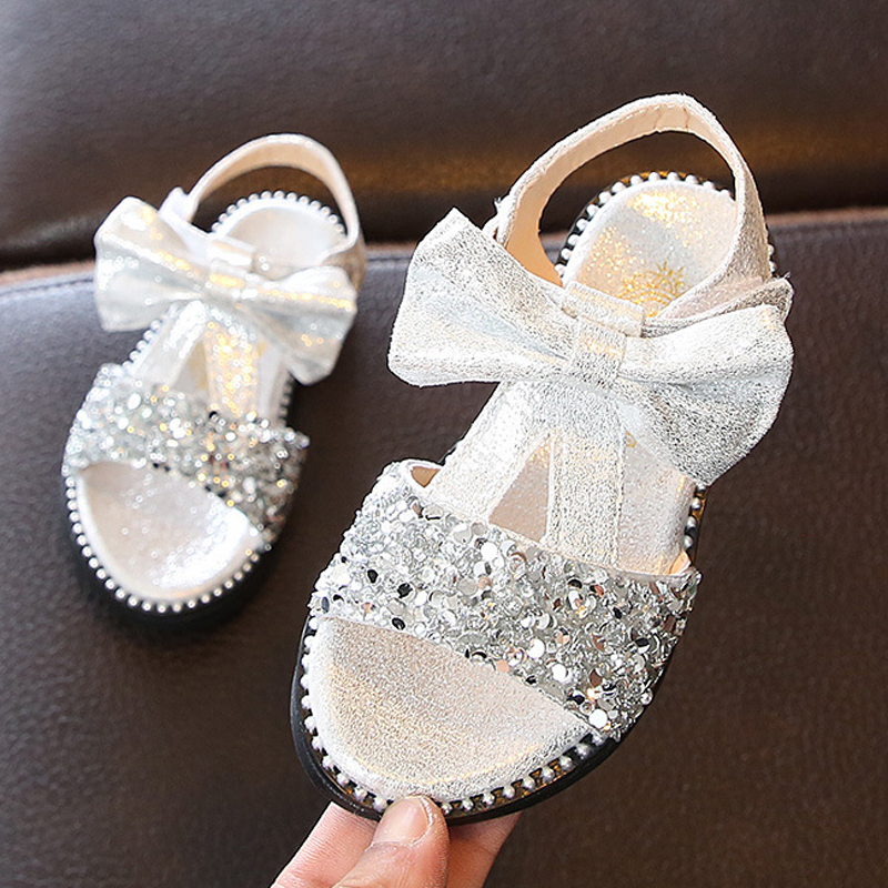 ULKNN 2020 Summer New Children's Shoes Wholesale Girls Sandals Bows Kid's Baby Toddler Shoes Baby Shoes