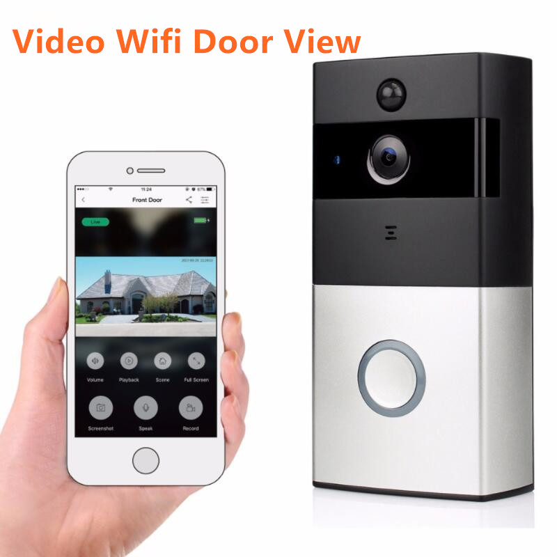 IP video intercom wifi video door phone ring door bell wifi doorbell camera for apartments wireless doorbell camera door camera
