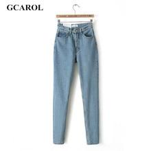 GCAROL 2017 Women High Waist Denim Jeans Vintage Slim Mom Style Pencil Jeans High Quality Denim Pants Plus Size 29 For 4 Season