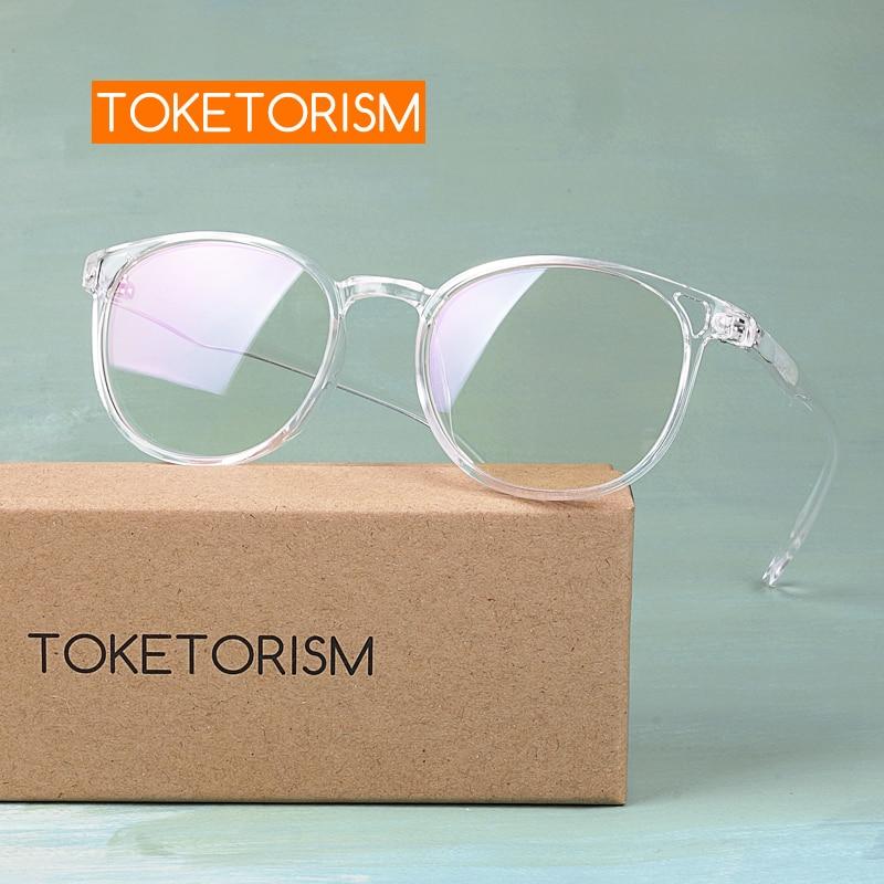 Toketorism Transparent Glasses Men Women's Fashion 2019 Prescription Miopia Glasses Frames 0242