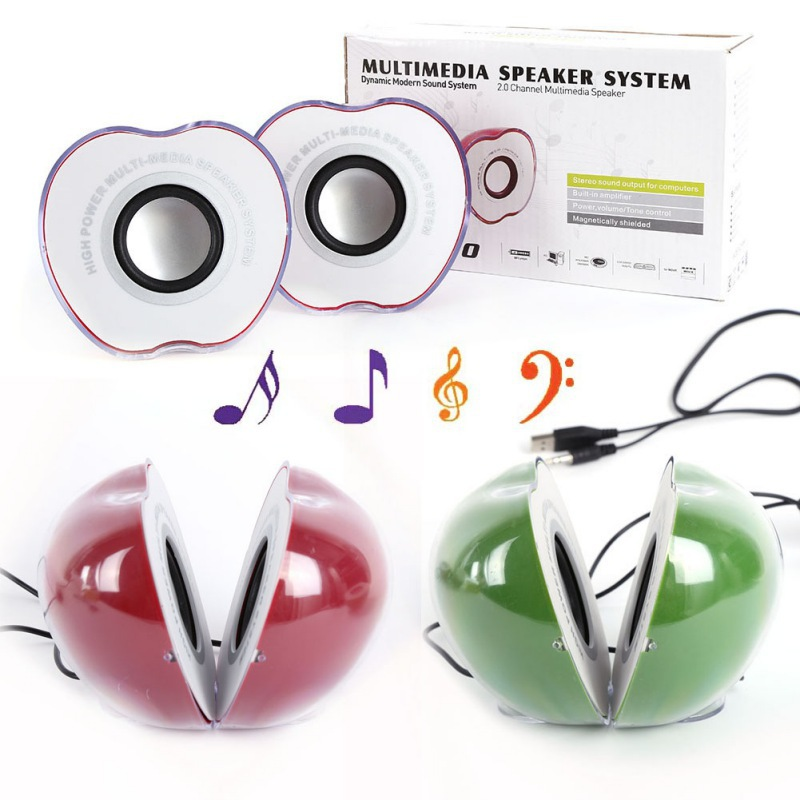 Fashion USB Portable Laptop Desktop Stereo Mini Speaker Music Loudspeaker 2017 Hot Sales