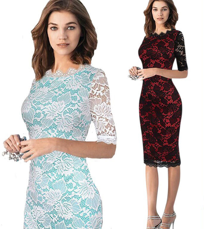 2016 new arrivals women s woman elegant lace Bridesmaid Mother of Bride bodycon pencil font b