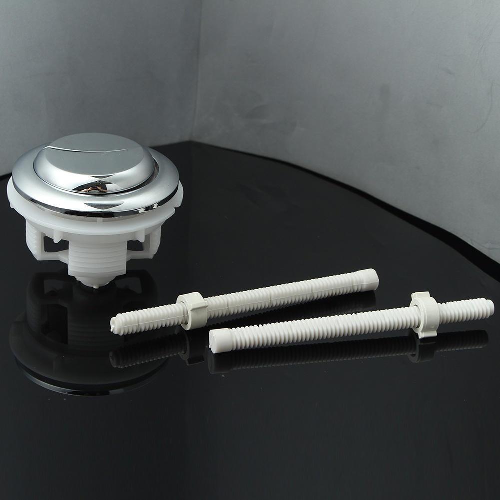 Dual Flush Toilet  Tank Round Valve Push Button Water Saving Bathroom Accessory