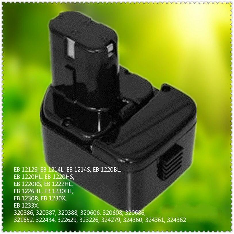 3500 mAh nouveau remplacement de batterie Rechargeable 12 V NI-CD pour batterie d'outil électrique HITACHI EB1212 EB1214 EB1220 EB1222 EB1226 EB1233