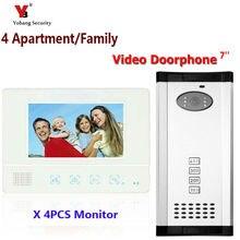 Yobang Security Freeship Apartment Intercom 7″ Video Door Phone Video Door Entry System Video Intercom Doorbell Home Security
