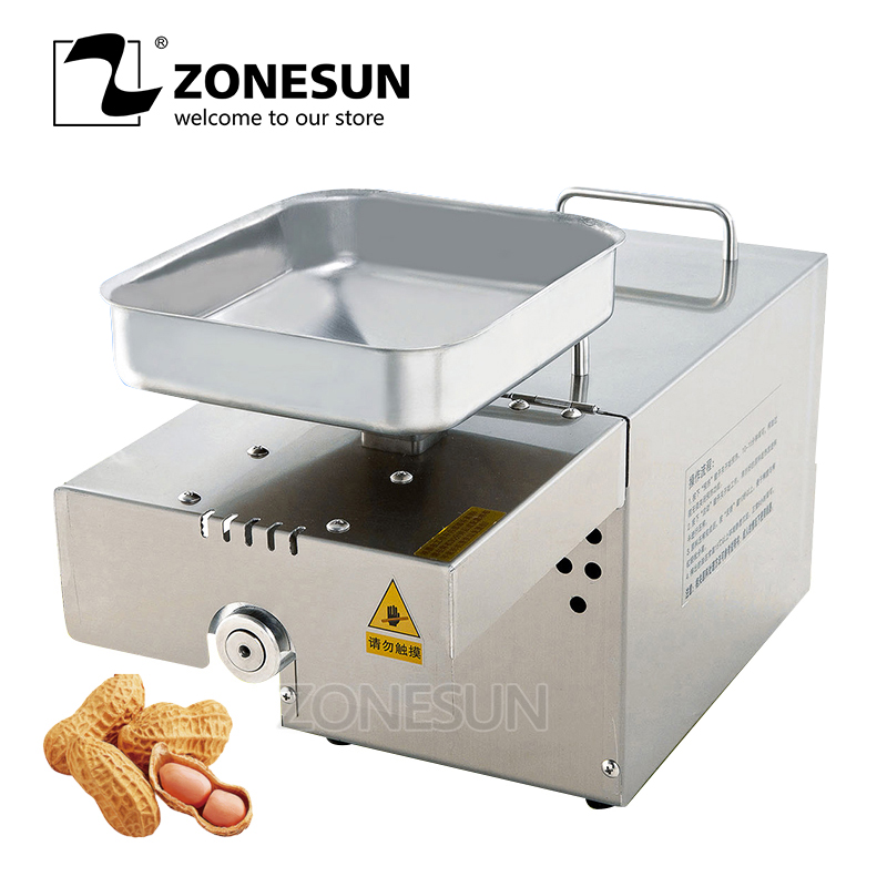 ZONESUN Home Automatic Oil Press Machine Nuts Seeds Oil Presser Pressing Machine All Stainless Steel High Oil ExtractionZONESUN Home Automatic Oil Press Machine Nuts Seeds Oil Presser Pressing Machine All Stainless Steel High Oil Extraction