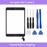 Voor ipad mini A1432 A1454 A1455 A1489 A1490 A1491 Touch Glas Screen Digitizer Home Knop Met IC Conector Voor ipad mini 1 2
