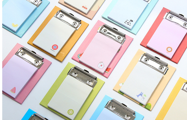 Cartoon with Plate clamp Memo Pad Sticky Notes Post It Planner Stickers sticky Bookmark office School Supplies papelaria