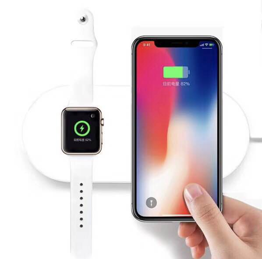 URVOI Mini AirPower for apple watch series 2 3 Wireless Charger for iphone X 8 8 plus support 7.5w fast charging dock repair crested charger for apple watch band iwatch series 4 3 2 1 qi wireless iphone x 8 plus samsung 10w fast charging dock station