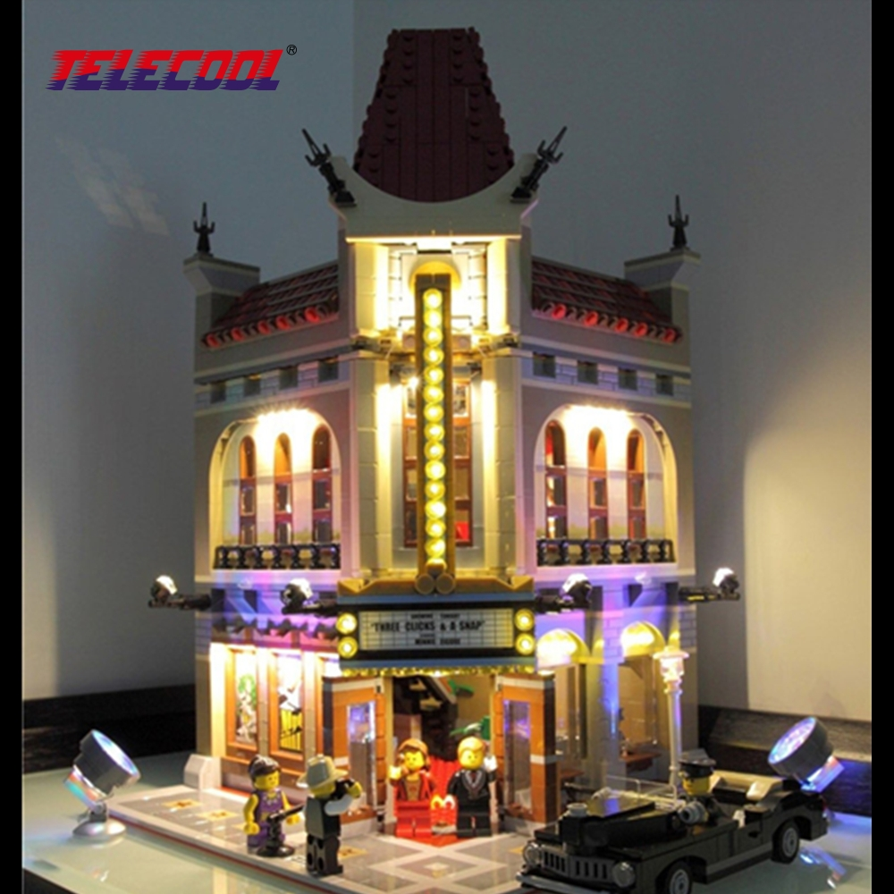 TELECOOL LED Block Light Up kit (Only light set) For Creator City Street Palace Cinema Model Lepin 15006 Compatible with 10232 2016 new lepin 15006 2354pcs creator palace cinema model building blocks set bricks toys compatible 10232 brickgift