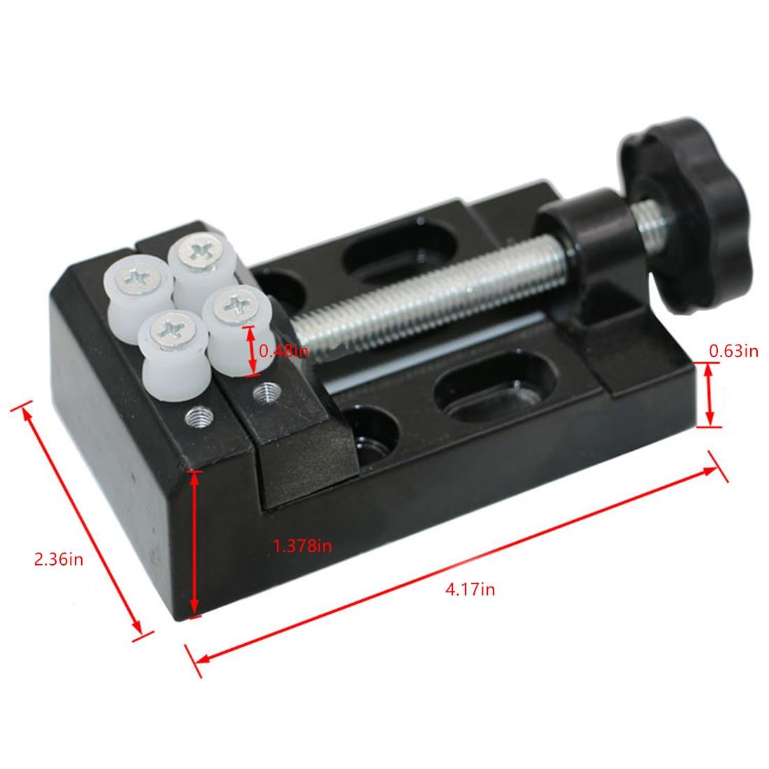 Black Jaw Bench Clamp Mini Drill Press Vice Micro Clip Flat Vise DIY Hand Tools 105 x 55 x 35mm