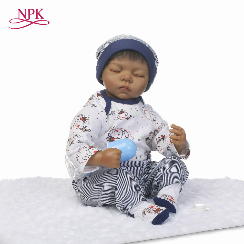 NPK reborn doll with soft real gentle touch 2018 new 22inch silicone vinyl lifelike newborn baby sleeping sweet baby