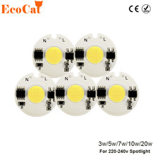 LED COB Chip Light 3W 5W 7W 10W 20W 220V 230V Input Smart IC Cold White Warm White DIY For LED Spotlight Flood(China)