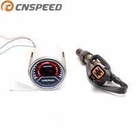 Free shipping CNSPEED 52mm Car Auto Air Fuel Ratio Gauge Smoke Lens GENUINE Narrowband O2 Oxygen Sensor For 03 10 Hyundai Kia2L