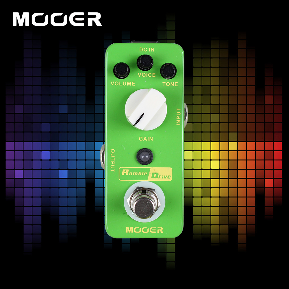 Mooer Rumble Drive Guitar Effects Pedal Round and Smooth Overdrive Tone True Bypass салатник 6 шт nikko 8 марта женщинам