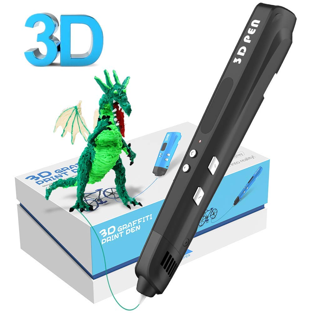 Sixth Generation 3 Color 3D Drawing Pens With Free PLA Filament 3D Printing Pens For Kids Birthday Present Or Christmas Gift 1china free shipping 20pcs abs 3d printing materials filament 1 75mm 20 different colors for 3d printer or 3d pens gift for kids