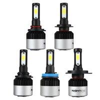 Nighteye 1Pair 12V 72W H11 HB3 9005 HB4 9006 H1 H4 9000LM Car LED Headlight Bulbs