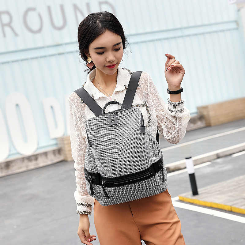 Mochila De Cuero genuino hecha a mano Vintage para mujer bolsos femeninos 2019 mochila de cuero de vaca de gran capacidad para Notebook C694