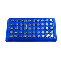 Wholesale5pcs 50 In 1 AG13 LR44 A76 Alkaline Button Cell Battery New Packaged