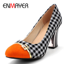 ENMAYER Womens pumps, New 2014 autumn high-heeled shoes sexy retro platform 8cm princess thin heels single hot sale