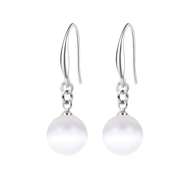 Imitation Pearl Dangle Earrings 2