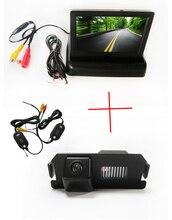 Беспроводной Цветной CCD Чип Чип Автомобиля Камера Заднего вида для HYUNDAI I30 GENESIS COUPE Tiburon KIA SOUL + 4.3 Дюймов складной LCD монитор