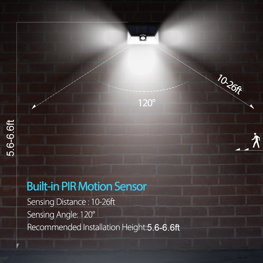 Litom 24 led solar light wide angle security motion sensor light litom 24 led solar light wide angle security motion sensor light wireless waterproof garden driveway outdoor solar powered lamp in solar lamps from lights aloadofball Gallery